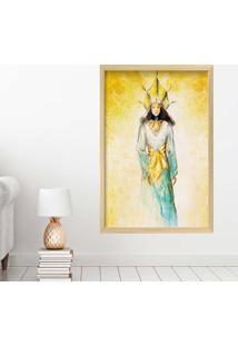 Quadro Love Decor Com Moldura Golden Woman Madeira Clara Grande