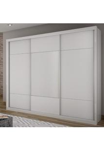 Guarda Roupa Casal 3 Portas De Correr Elegance Móveis Novo Horizonte Branco