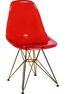 Cadeira Eames Base Cobre Vermelha