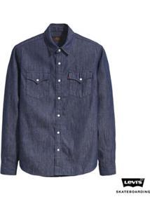 Camisa Jeans Levis Skateboarding Western Masculino - Masculino-Jeans