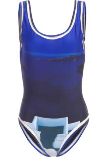 Maiô Camiseta - Azul