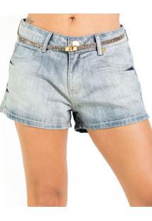 Shorts Jeans Estonado Boyfriend Com Cinto AlphorriaA.Cult