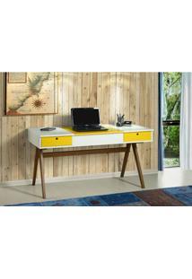 Escrivaninha Ibiza Branco/Amarelo 17119 - Sun House