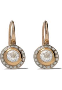 Alice Cicolini Par De Brinco Tile Mini Em Ouro 14K E 22K E Prata - Gold & White