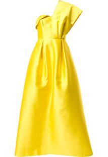 Sachin & Babi Vestido De Festa Clara Ombro Único - Amarelo