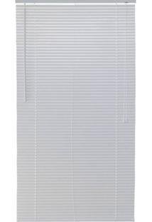 Persiana Horizontal Pvc Block Branca 100X160Cm