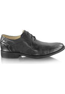 Sapato Anatomic Gel 9240 Couro Floater - Masculino-Preto