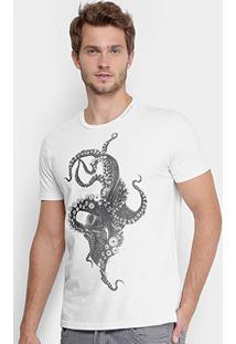 Camiseta Ellus Polvo Masculina - Masculino-Branco