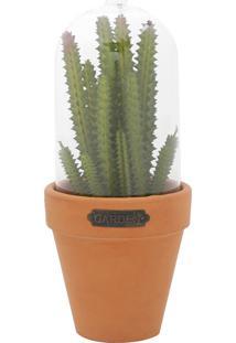 Vaso Com Tampa Candelabra Cactus Verde E Laranja 889X889X2223Cm Urban