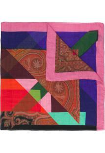 Etro Echarpe Color Block - Vermelho