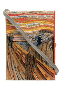 Olympia Le-Tan Clutch Livro The Scream - Cinza