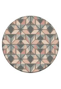 Tapete Love Decor Redondo Wevans Abstract Color Multicolorido 84Cm