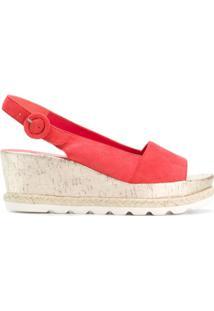 Hogl Sandália Com Plataforma - Vermelho