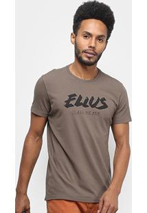 Camiseta Ellus Cotton Fine Ellus All We Are Classic Masculina - Masculino-Marrom