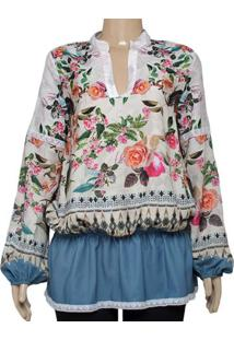 c48f7328ac5b2 ... Camisa Fem Triton 301400634 Off White Floral