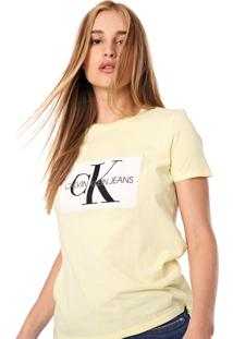 Camiseta Calvin Klein Jeans Logo Amarela