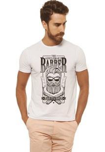 Camiseta Joss - Barber - Masculina - Masculino-Branco
