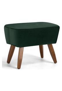 Puff Decorativo Pés De Madeira Fixo Juliet D02 Algodáo Verde B-303 - Lyam Decor