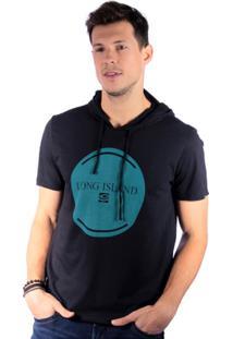 Camiseta Long Island Bl Masculina - Masculino-Preto