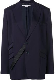 Stella Mccartney Blazer Com Abotoamento Único - Azul