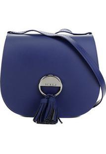 Bolsa Petite Jolie Saddle Bag Feminina - Feminino-Azul