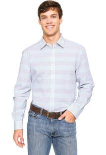 Camisa Perry Ellis Reta Multicolorida