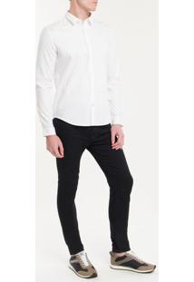 Camisa Ml Masc Slim Básica - Branco 2 - P