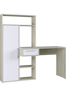 Escrivaninha Modern Office 1 Porta 1 Gaveta 4 Nichos Branco Estilare