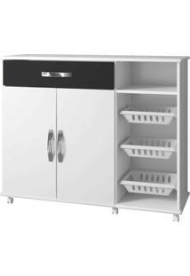Armário Cozinha Com Fruteira Salinas Arte Móveis -Branco