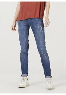 Calça Jeans Hering Super Skinny Com Elastano Feminina - Feminino-Azul