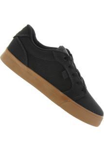 Tênis Dc Shoes Anvil La Tx - Masculino - Preto/Marrom