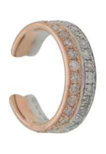 Yvonne Léon Ear Cuff 'Double' Com Diamantes - Metálico