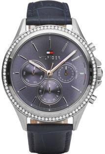 a11ff01c1a3 ... Relógio Tommy Hilfiger Feminino Couro Azul - 1781979