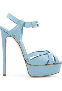 Casadei Sandália Blade Com Alças - Azul
