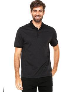 ... Camisa Polo Calvin Klein Reta Listrada Preta a842496947052