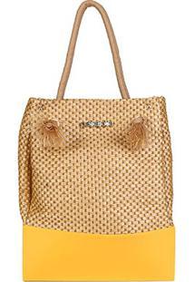 Bolsa Petite Jolie Shopper Wind Feminina - Feminino-Amarelo