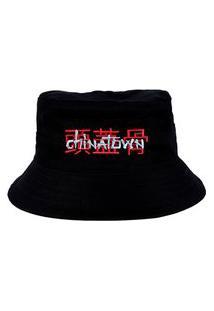 Chapéu Bucket Skull Clothing Chinatown Preto