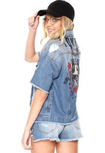 Jaqueta Jeans Colcci Loose Azul