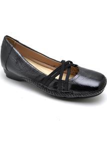 Sapatilha Dr Shoes Casual Feminino - Feminino-Preto