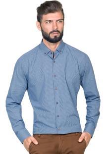 Camisa Hugo Rossi Xadrez Azul - Masculino