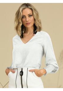 Blusa Branco Doce Trama