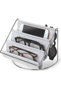Porta Acessórios E Óculos Hammock Organizador Camurça Cinza Umbra