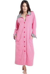 Robe Midi Atoalhado Pink All Day Com Bolso - Tricae