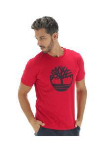Camiseta Timberland Kennebec Rvr Tree - Masculina - Vermelho