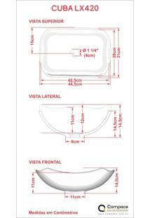 Conjunto Para Banheiro Gabinete 80Cm Cuba Abaulada L42 Prateleira E Espelheira 806W Metrópole Compace Nogal