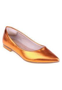 Sapatilha Shop Shop Shoes Napa Cor:Laranjatamanho:39 Laranja
