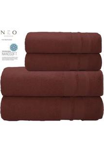 Toalha De Banho Gigante Neo Allure- Bordã´- 80X150Cm