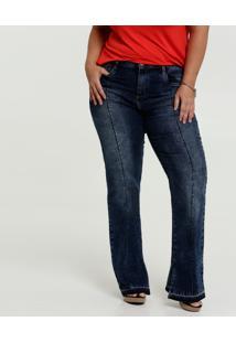 Calça Jeans Stretch Flare Feminina Plus Size Marisa