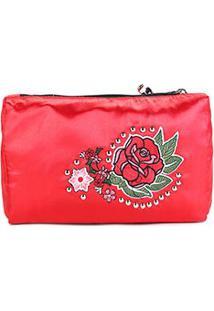 Necessaire Coca-Cola Vintage Rose Masculina - Feminino-Vermelho