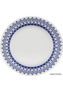 Prato Para Sobremesa Donna Grécia 18Cm Azul E Branco